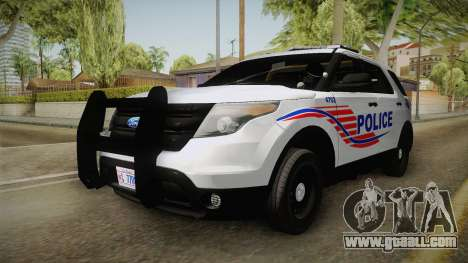 Ford Explorer 2013 Police for GTA San Andreas right view