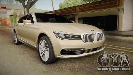 BMW 7-series G12 Long 2016 for GTA San Andreas