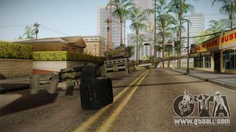 GTA 5 Camo Light Machine Gun for GTA San Andreas second screenshot