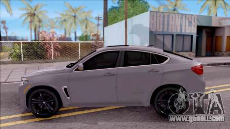 BMW X6M F86 2016 for GTA San Andreas left view