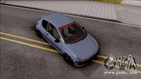 Peugeot 206 FR for GTA San Andreas
