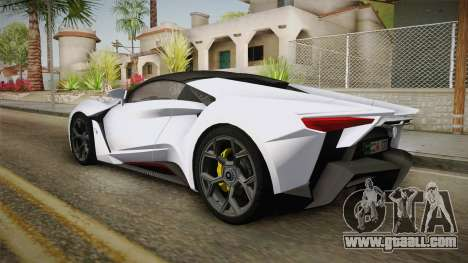 W Motors - Fenyr Supersports 2017 Dubai Plate for GTA San Andreas left view