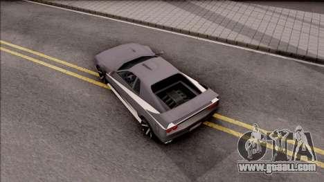 BlueRay Cheetah VX for GTA San Andreas back view