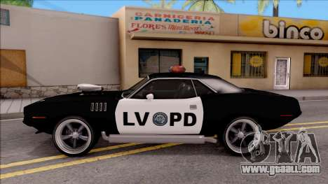 Plymouth Hemi Cuda 426 Police LVPD 1971 v2 for GTA San Andreas left view