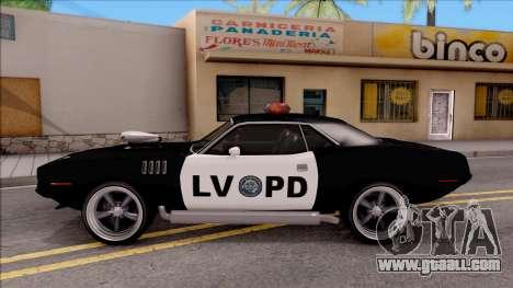 Plymouth Hemi Cuda 426 Police LVPD 1971 v2 for GTA San Andreas