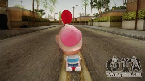Cartoon Network Punch Time - Billy Skin for GTA San Andreas second screenshot