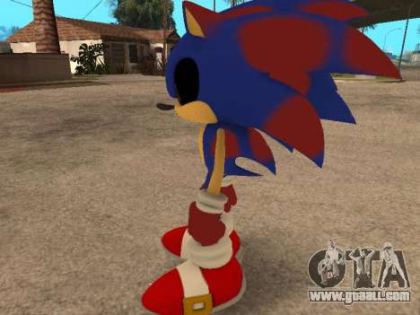 Sonic EXE for GTA San Andreas third screenshot