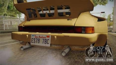 Porsche 911 Carrera RSR for GTA San Andreas bottom view