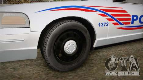 Ford Crown Victoria Police v1 for GTA San Andreas back view