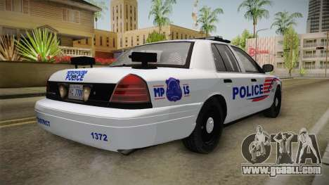 Ford Crown Victoria Police v1 for GTA San Andreas left view