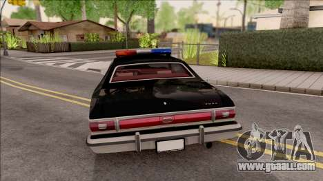 Ford Gran Torino Police LVPD 1975 v2 for GTA San Andreas back left view