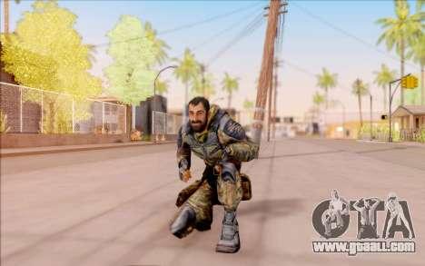 Vano of S. T. A. L. K. E. R. in overalls Liberty for GTA San Andreas sixth screenshot