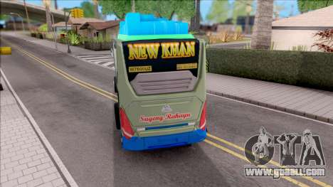 New Khan Bus G for GTA San Andreas back left view