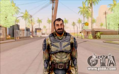 Vano of S. T. A. L. K. E. R. in overalls Liberty for GTA San Andreas second screenshot