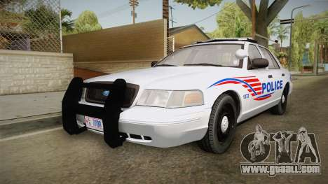 Ford Crown Victoria Police v1 for GTA San Andreas back left view