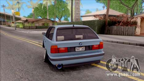 BMW M5 E34 Touring Slammed 1995 for GTA San Andreas back left view