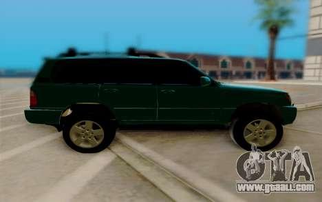 Lexus LX470 FBI for GTA San Andreas left view