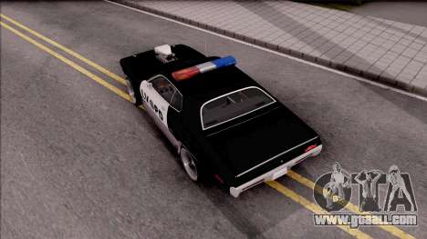 Plymouth GTX Police LVPD 1972 for GTA San Andreas back view