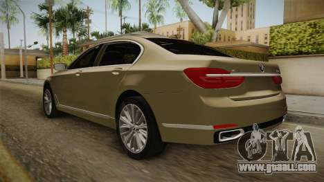 BMW 7-series G12 Long 2016 for GTA San Andreas right view