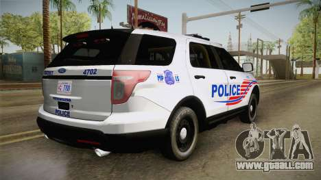 Ford Explorer 2013 Police for GTA San Andreas left view