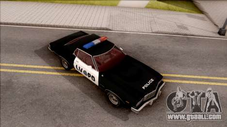Ford Gran Torino Police LVPD 1975 v2 for GTA San Andreas right view