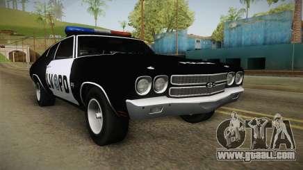 Chevrolet Chevelle SS Police LVPD 1970 v2 for GTA San Andreas