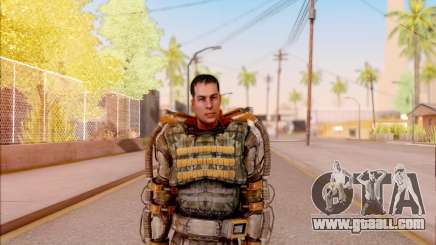 Degtyarev in the exoskeleton of Freedom of S. T. A. L. K. E. R. for GTA San Andreas