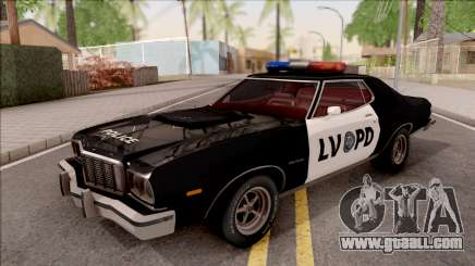 Ford Gran Torino Police LVPD 1975 v2 for GTA San Andreas