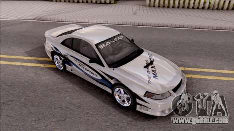 Ford Mustang Saleen 2000 IVF for GTA San Andreas bottom view
