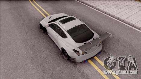 Hyundai Genesis Coupe 3.8 2013 Rocket Bunny for GTA San Andreas back view