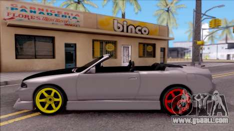Nissan Skyline R33 Cabrio Drift Monster Energy for GTA San Andreas left view