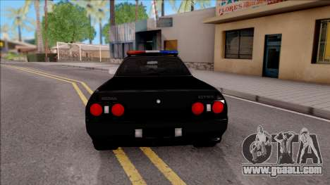 Nissan Skyline R32 Pickup Police LSPD for GTA San Andreas back left view