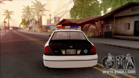 Ford Crown Victoria 2004 Des Moines PD for GTA San Andreas back left view
