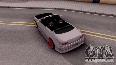 Nissan Skyline R33 Cabrio Drift Monster Energy for GTA San Andreas back view