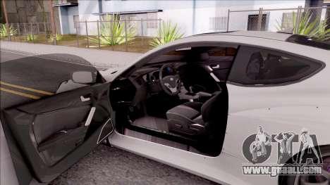 Hyundai Genesis Coupe 3.8 2013 Rocket Bunny for GTA San Andreas inner view