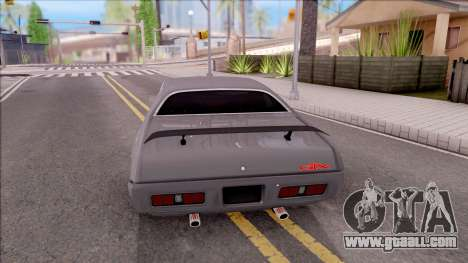 Plymouth GTX 426 Hemi 1971 for GTA San Andreas back left view