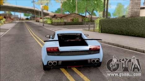 Lamborghini Gallardo Superleggera LP 570-4 for GTA San Andreas back left view
