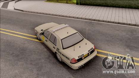 Ford Crown Victoria 2005 Iowa State Patrol for GTA San Andreas back view
