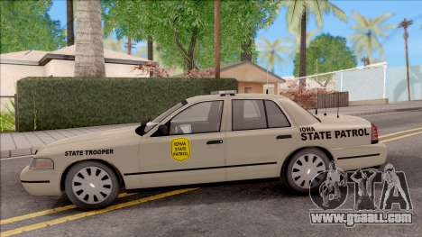 Ford Crown Victoria 2005 Iowa State Patrol for GTA San Andreas left view