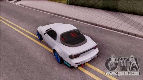 Mazda RX-7 Rocket Bunny for GTA San Andreas back view