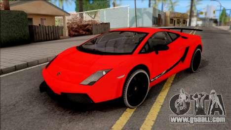 Lamborghini Gallardo Superleggera LP 570-4 for GTA San Andreas inner view