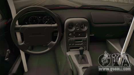 Mazda MX-5 Miata Cabrio Rocket Bunny 1989 for GTA San Andreas inner view