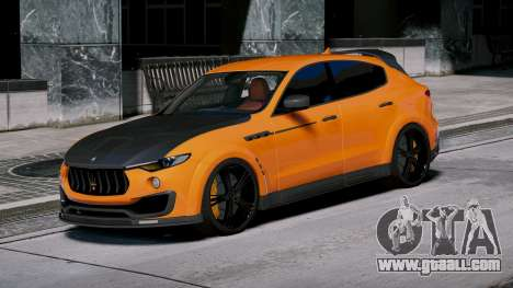GTA 5 Maserati Levante Mansory left side view