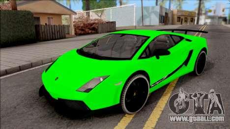 Lamborghini Gallardo Superleggera LP 570-4 for GTA San Andreas side view