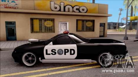Nissan Skyline R32 Pickup Police LSPD for GTA San Andreas left view