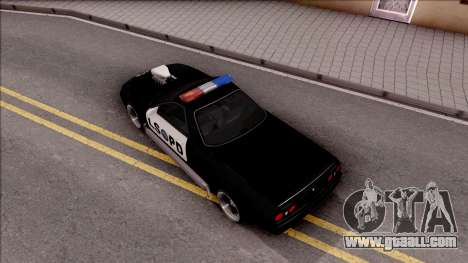 Nissan Skyline R32 Pickup Police LSPD for GTA San Andreas back view