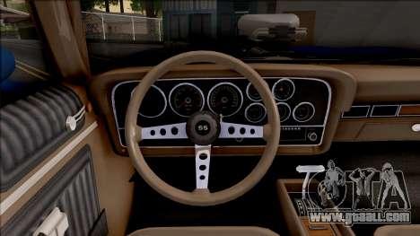 Chevrolet Chevelle SS 1972 Monster Truck for GTA San Andreas inner view