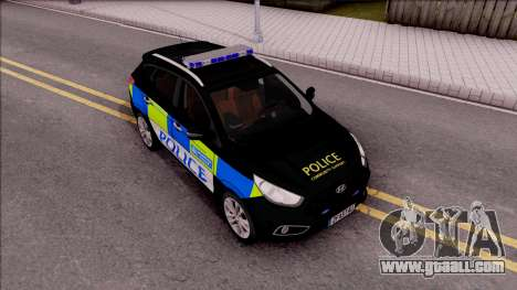 Hyundai IX35 2012 U.K Police for GTA San Andreas right view