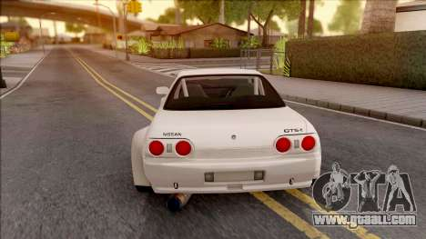 Nissan Skyline R32 Rocket Bunny v3 for GTA San Andreas back left view