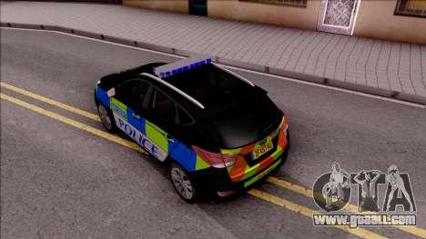 Hyundai IX35 2012 U.K Police for GTA San Andreas back view